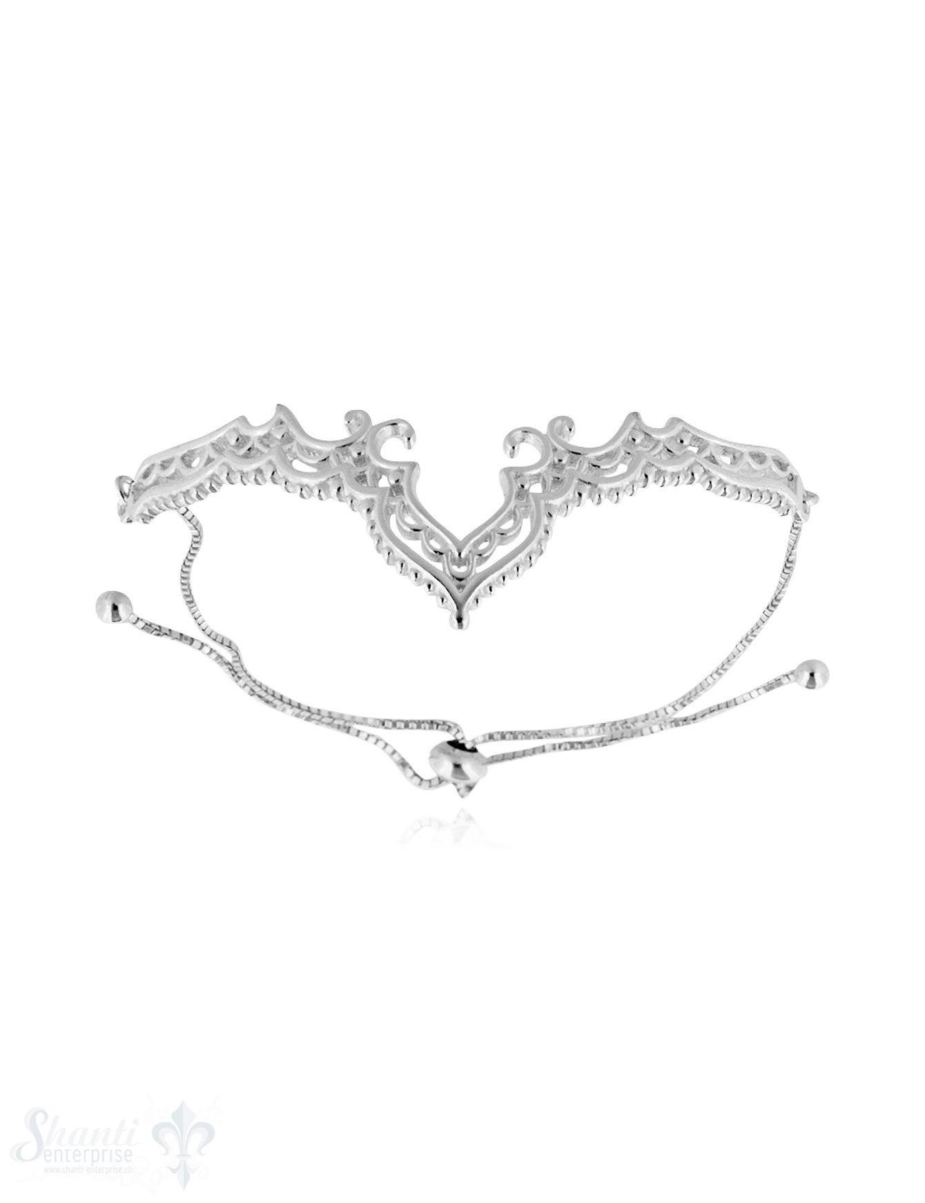Armkette Silber hell Diadem filigran