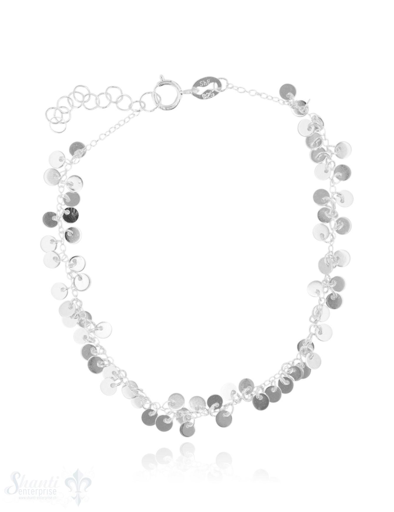 Armkette Silber hell Anker 17-19,5 cm mit vielen
