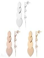 Ohrstecker Silber poliert 12x46 mm 4 Navette im Verlauf flach flexibel