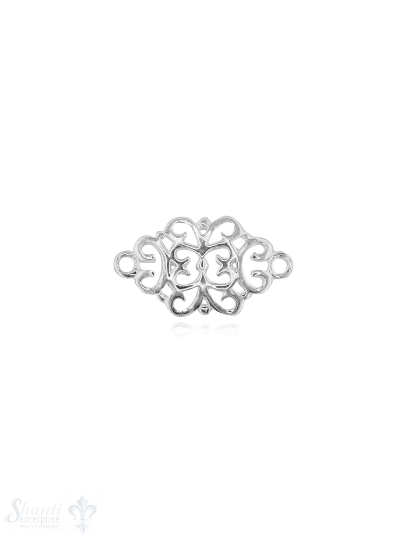 Silberteil mit Doppelösen Mandala durchbochen fein