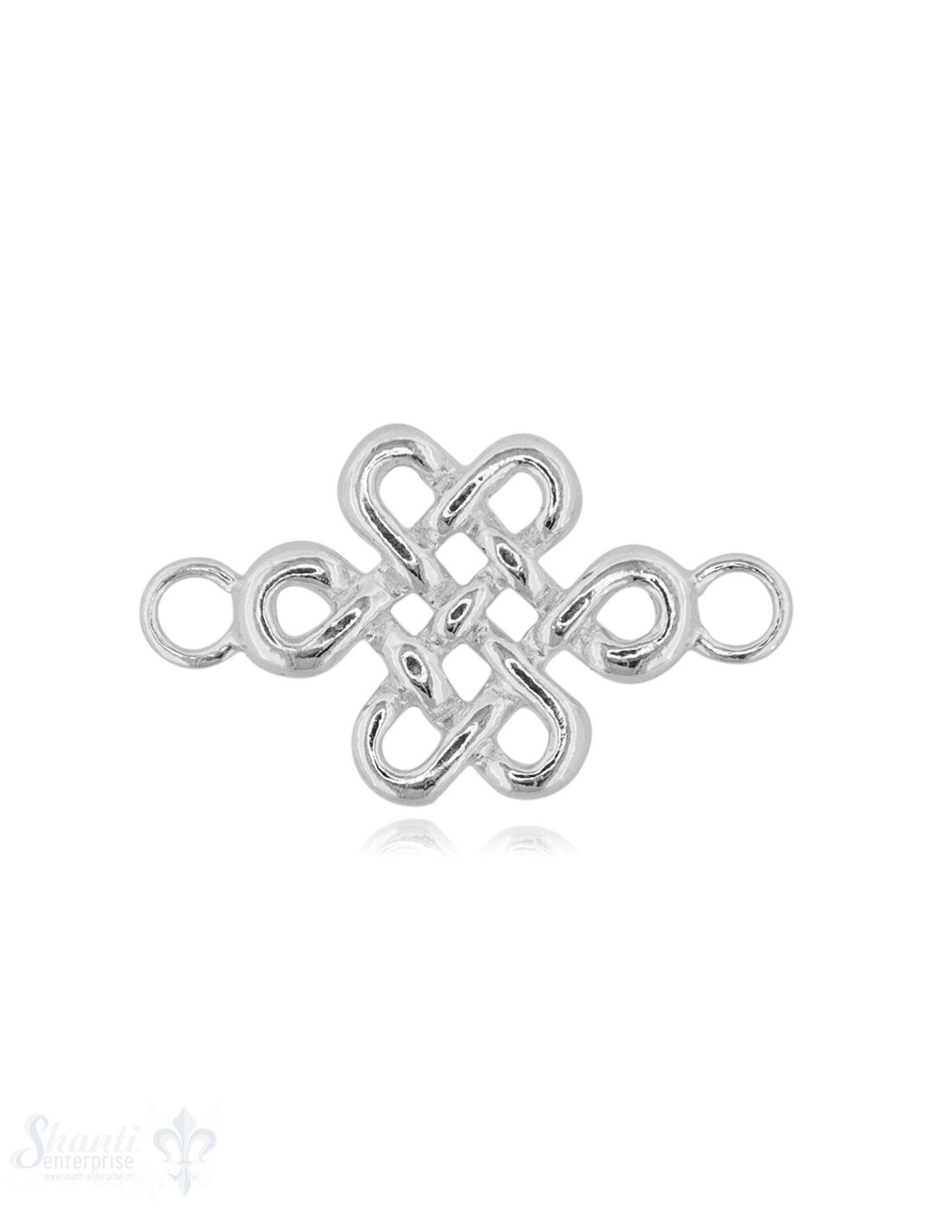 Silberteil mit Doppelösen keltischer Knoten