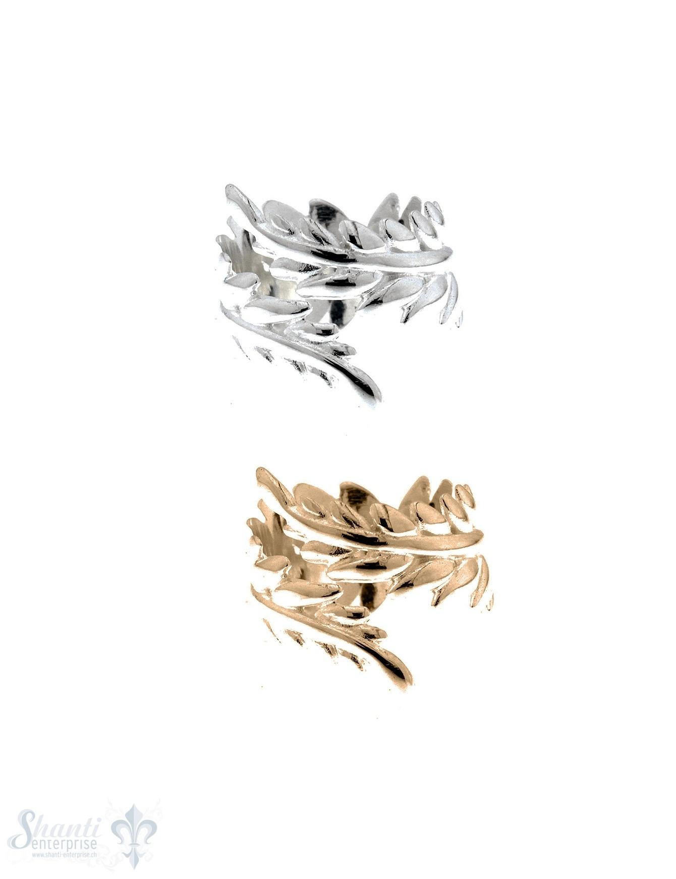 Silberring: Farnblatt