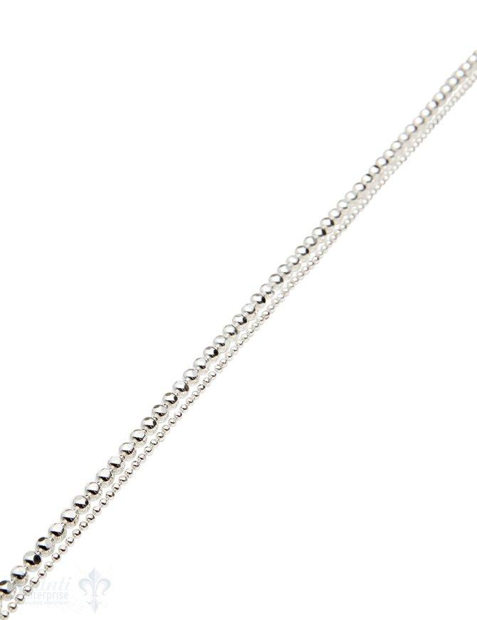 Silberkette Kugel facettiert aneinander (Abschnittlänge wird angepasst) per cm