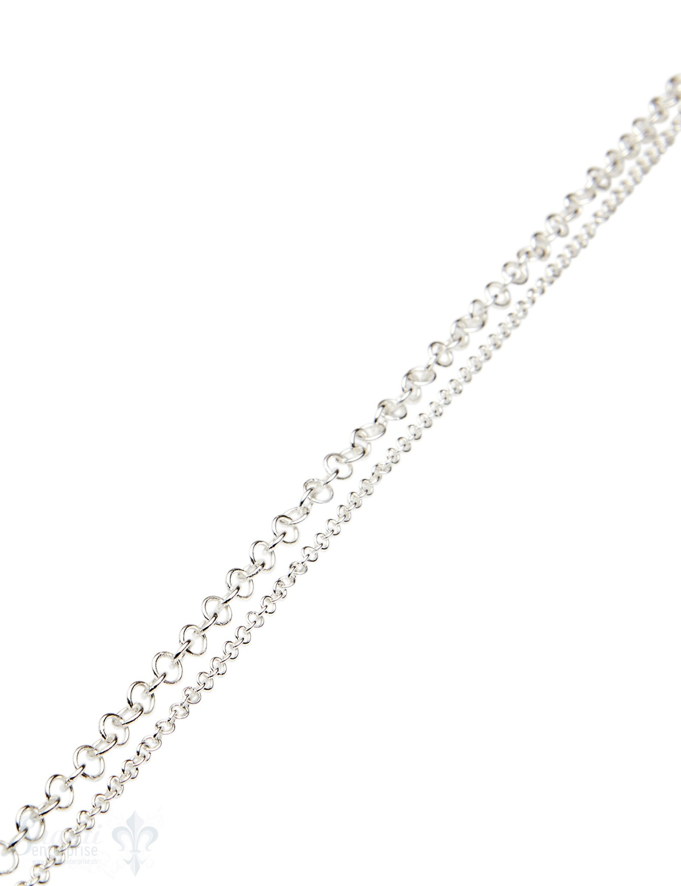 )Silberkette Ringe poliert (Abschnittlänge wird angepasst) per cm