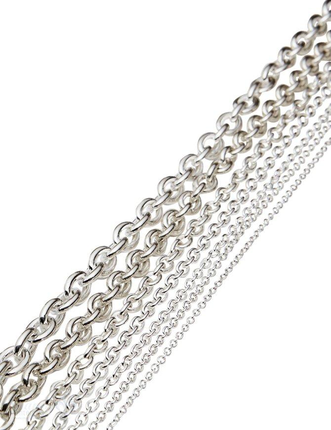 Silberkette Anker Glieder rund (Abschnittlänge wird angepasst) per cm