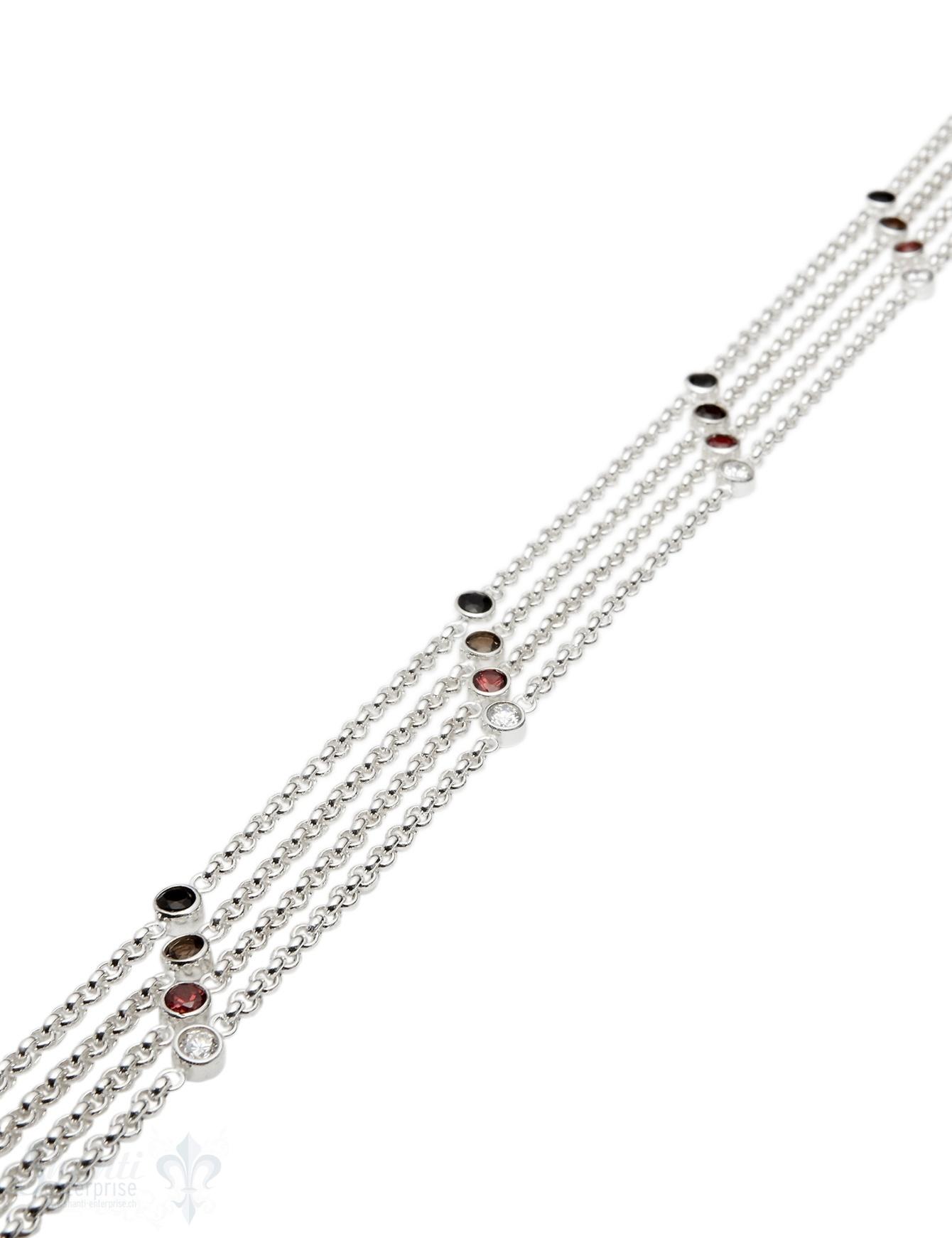 Silberkette Rollo 3,2 mm rund gefasst 5.5 mm im Abstand von 6 cm (Abschnittlänge wird angepasst) per cm