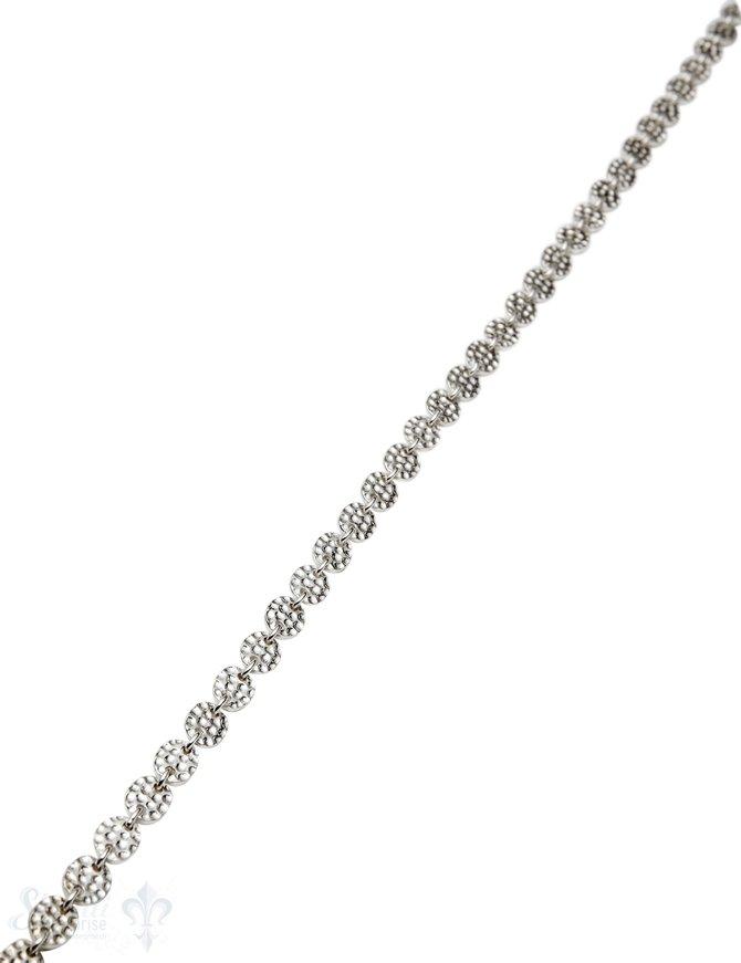 Silberkette Plättli oval gehämmert 7x5 mm m 1 Meter ca. Fr. 87.00 Abschnittlänge wird angepasst per cm