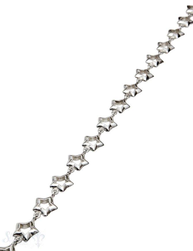 Silberkette Sterne 11 mm innen offen 1 Meter ca. Fr. 191.00 Abschnittlänge wird angepasst per cm