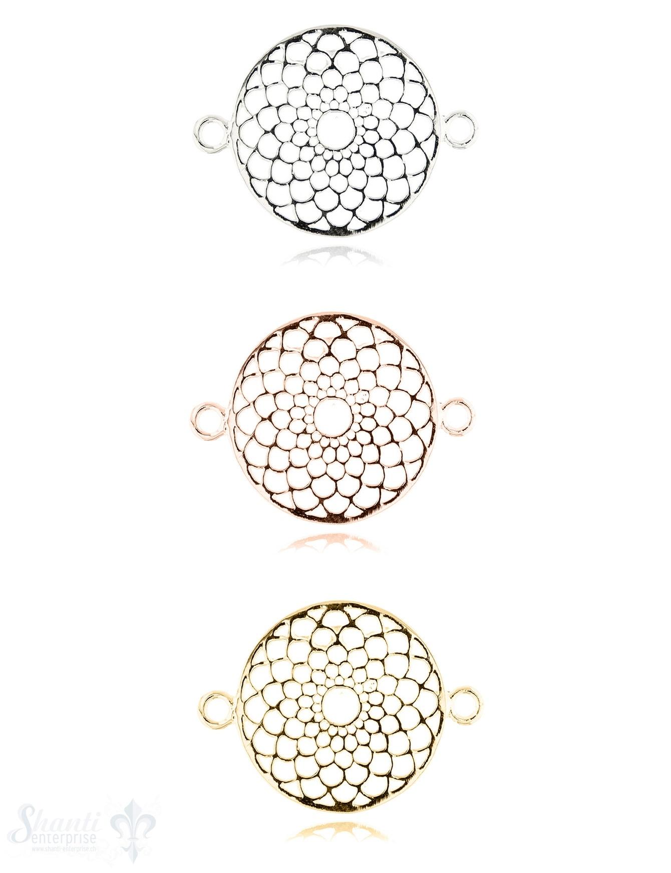 Silberteil mit Doppelösen: Traumfänger fein 20 mm