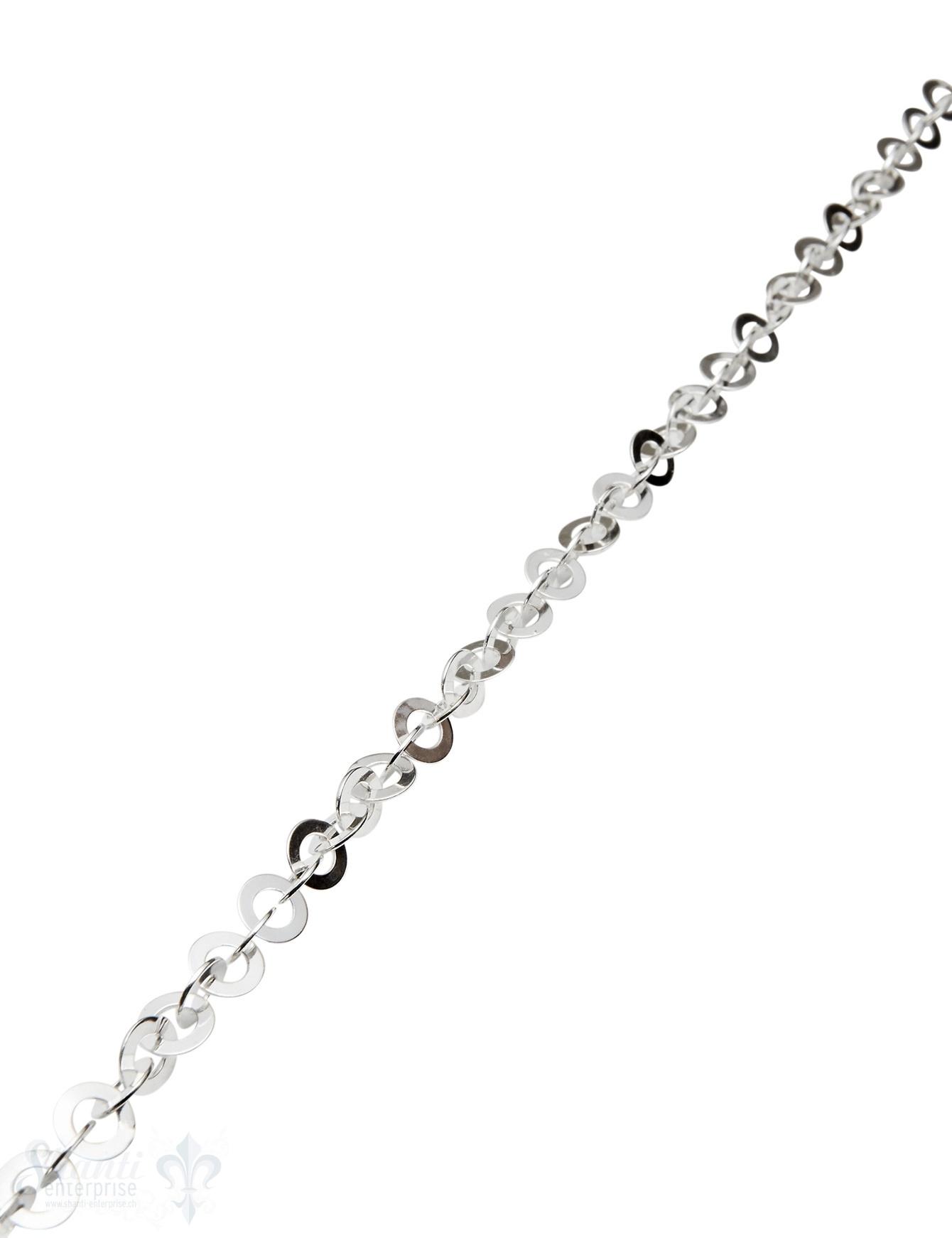 Silberkette hell Scheiben 7.3 mm Dicke 0.5 mm Loch