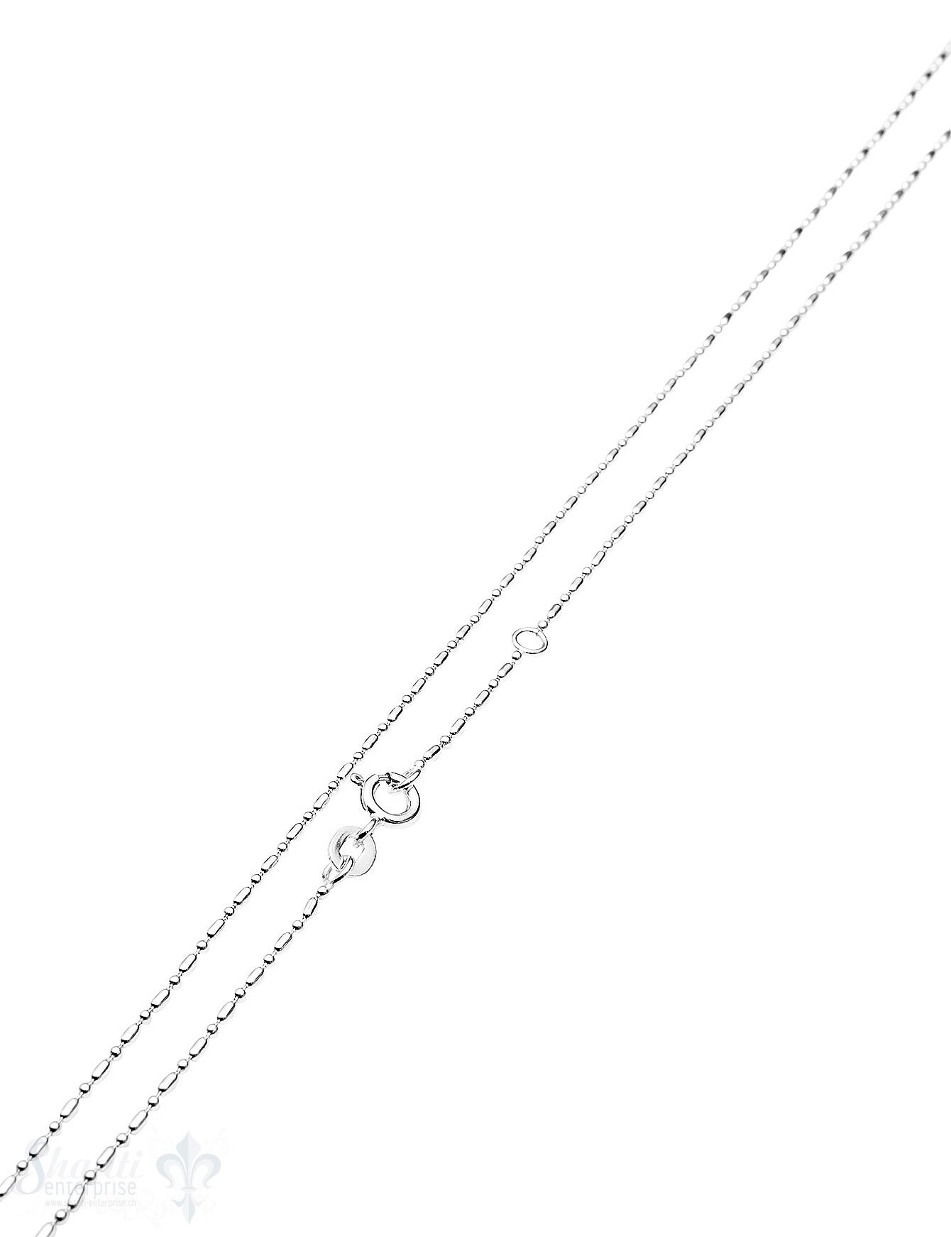 Silberkette Stäbli / Kugeln fein 1,2 mm