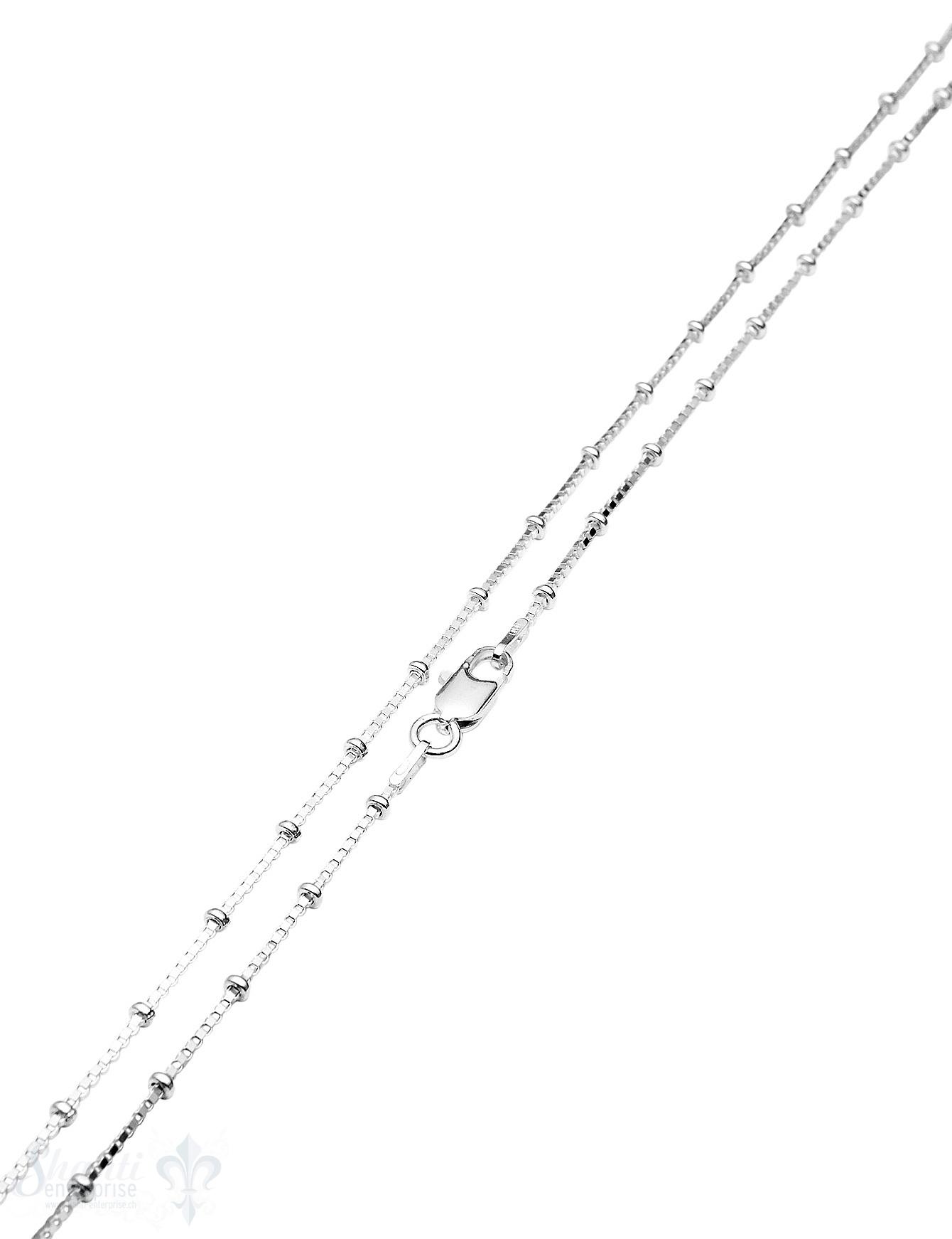 Silberkette Fantasie Venezianer 1,0 mm 38 cm mit