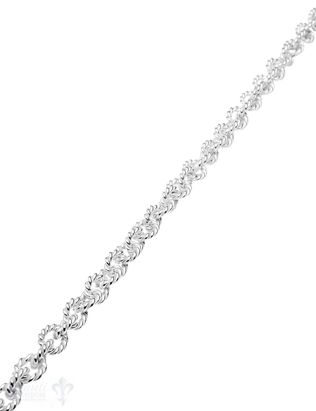 Silberkette hell oval grob gedreht 10x9 mm Dick