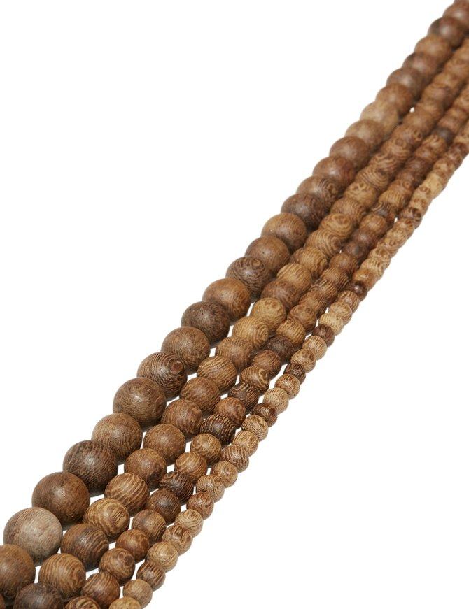 Holzkette Sheesham Holz (Indien) matt braun-beige-rot meliert