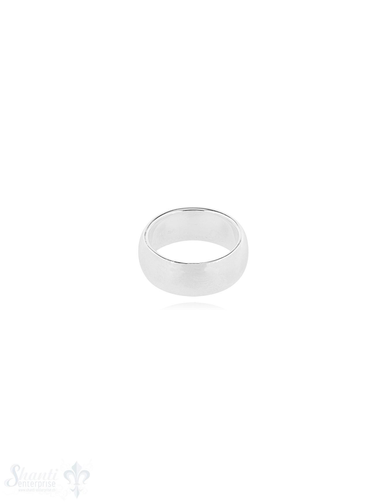 Silberring hell leicht gewölbt 7.5 mm breit