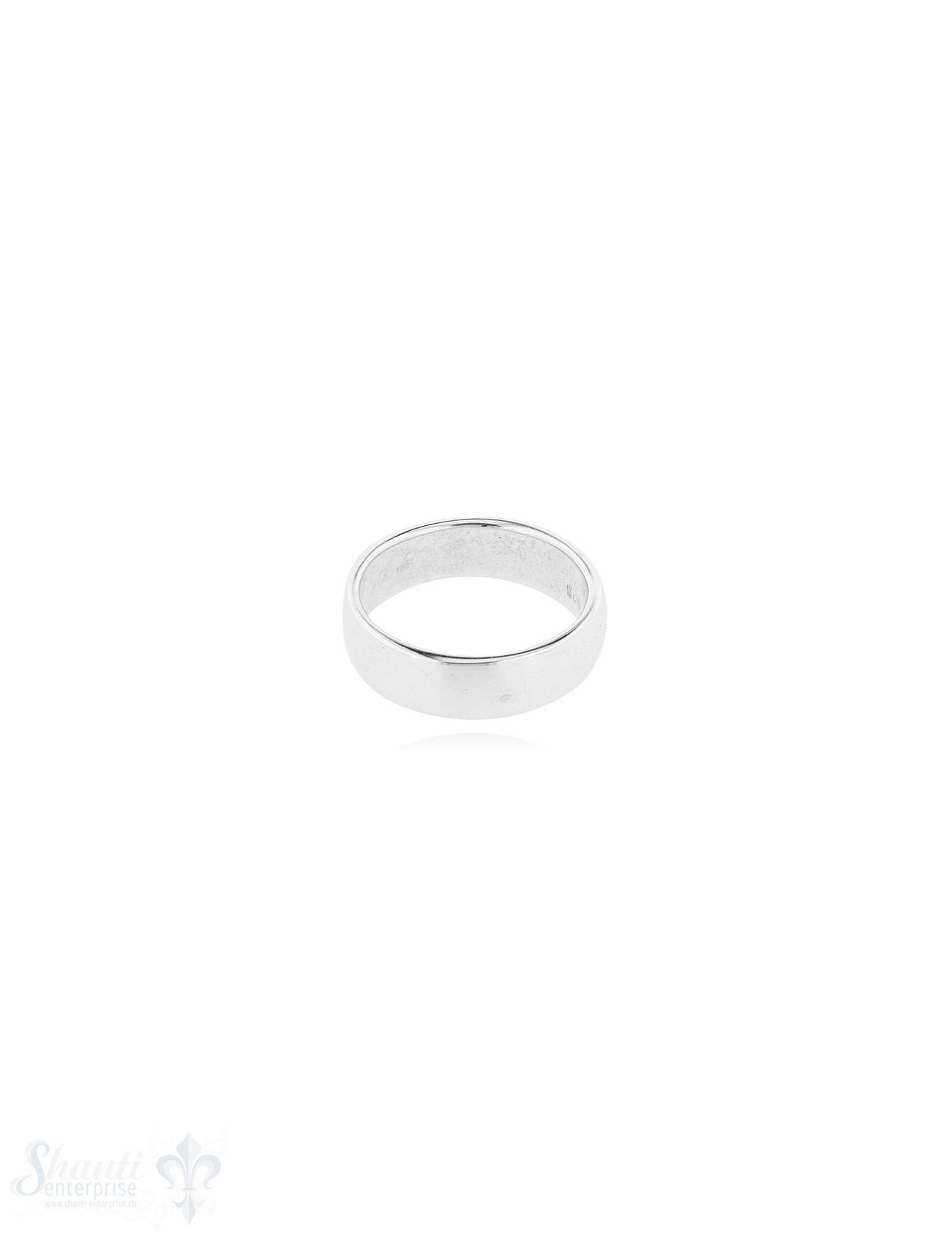 Silberring hell leicht gewölbt 5.6 mm breit