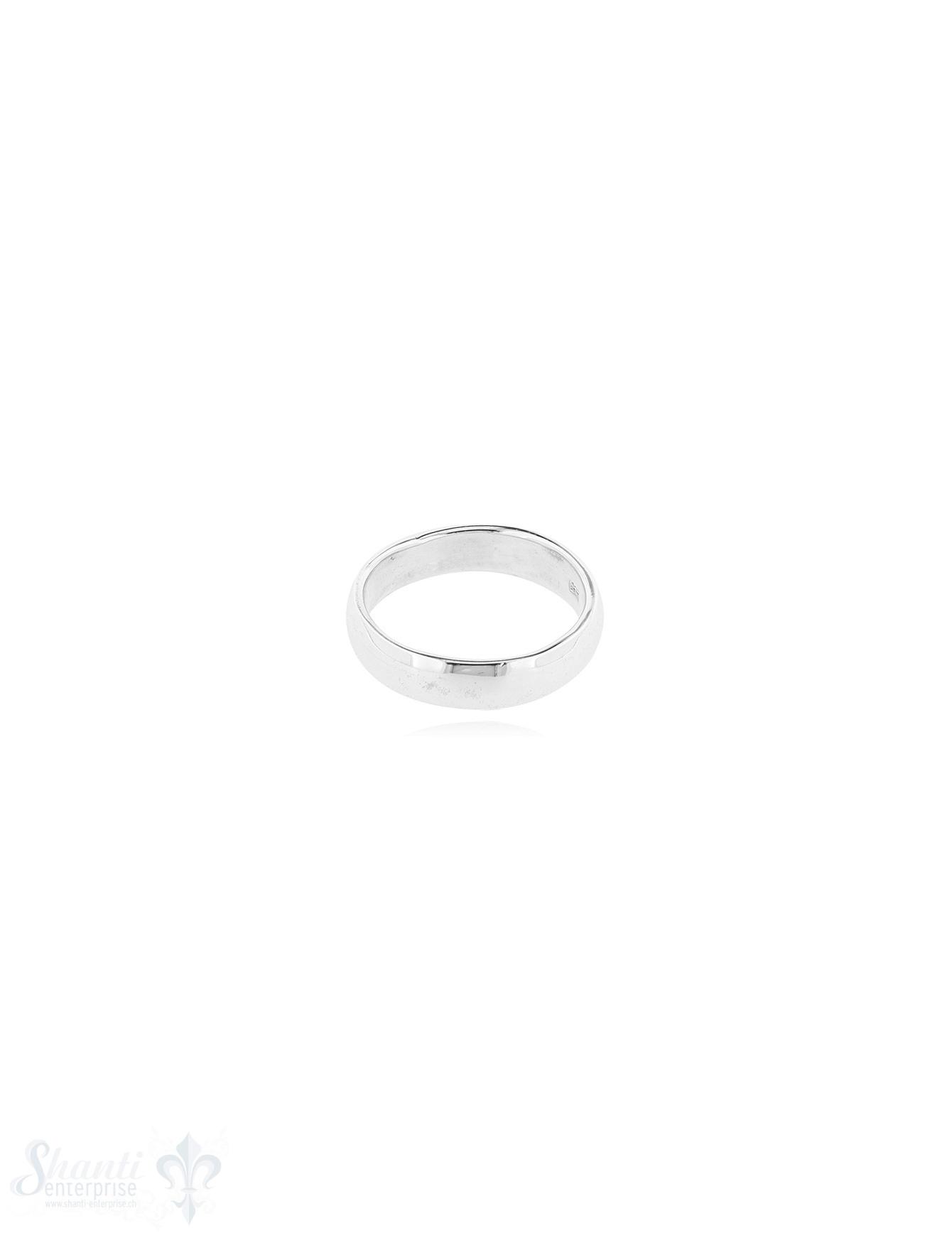Silberring hell leicht gewölbt 4.2 mm breit