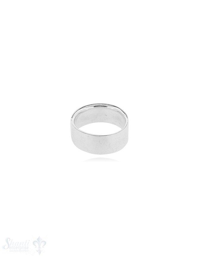 Silberring hell flach 8.2 mm breit