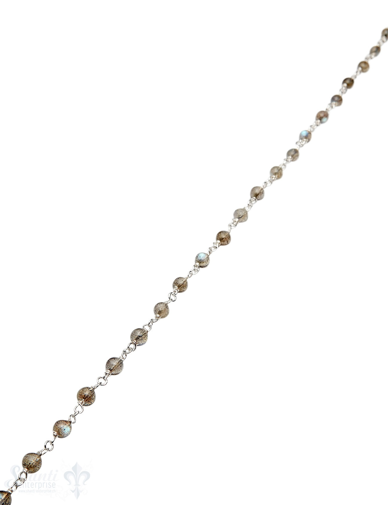 Rosenkranzkette Labradorit grau-blau 4 mm rund