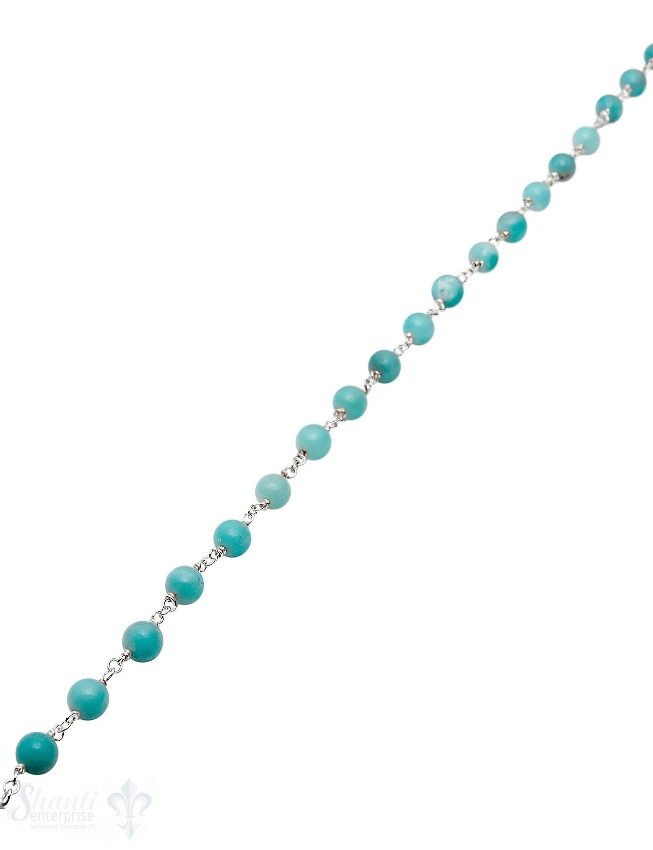 Rosenkranzkette Amazonit blau 6 mm rund poliert
