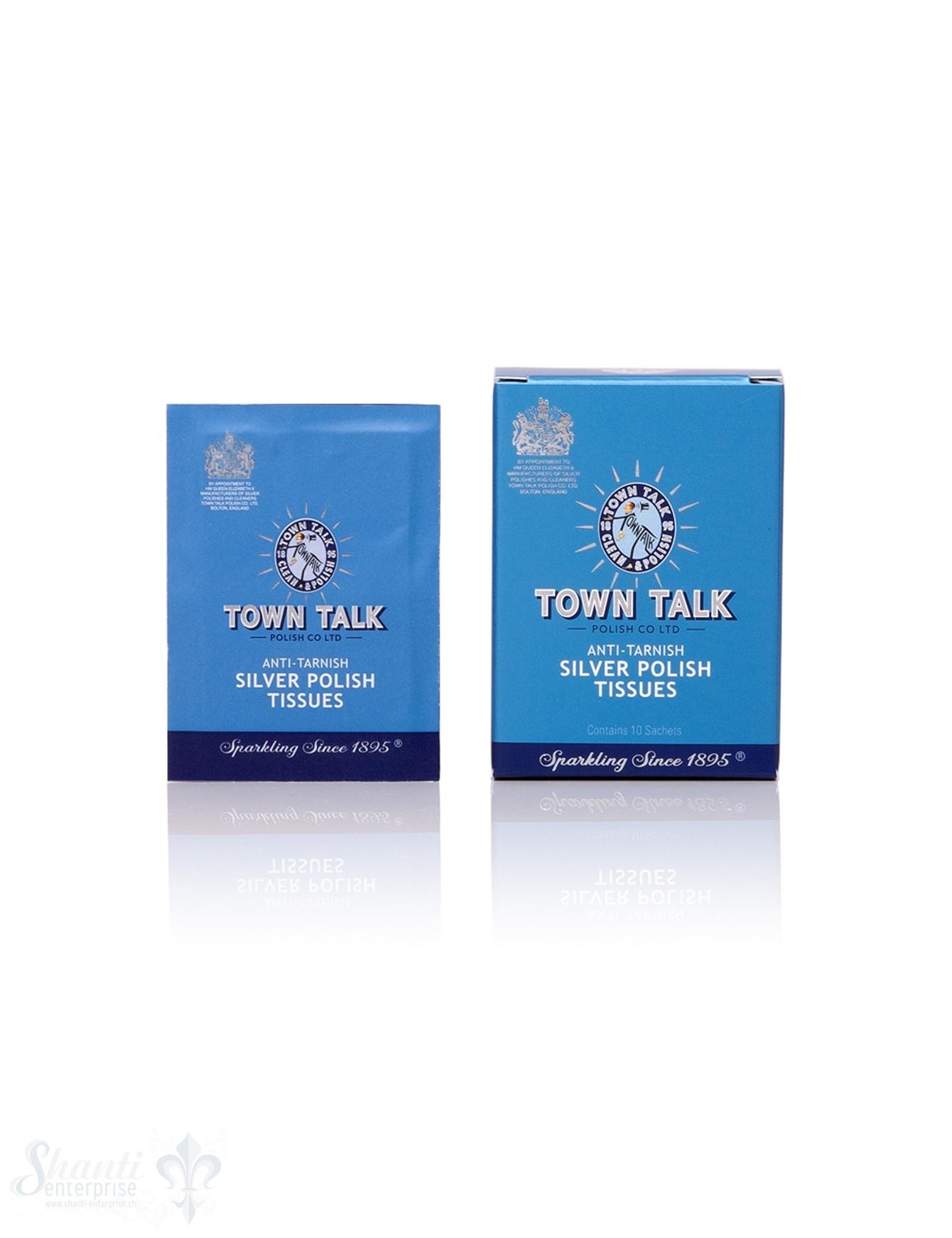 Town Talk Anti Tarnish Silver Polish, Tücher feucht, 10 Stk.
