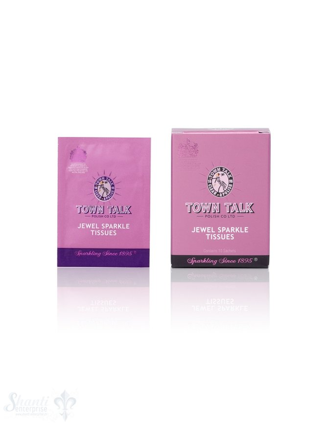 Town Talk Anti Tarnish  Town Talk Gold und vergoldet Tücher feucht, 10 Stk.