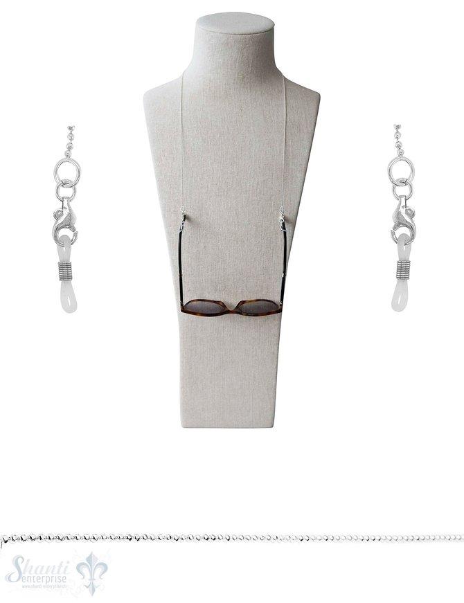 Stahl-Zwischenteil für Brille mit Gummischlaufe 1 Pack = 6 Stück