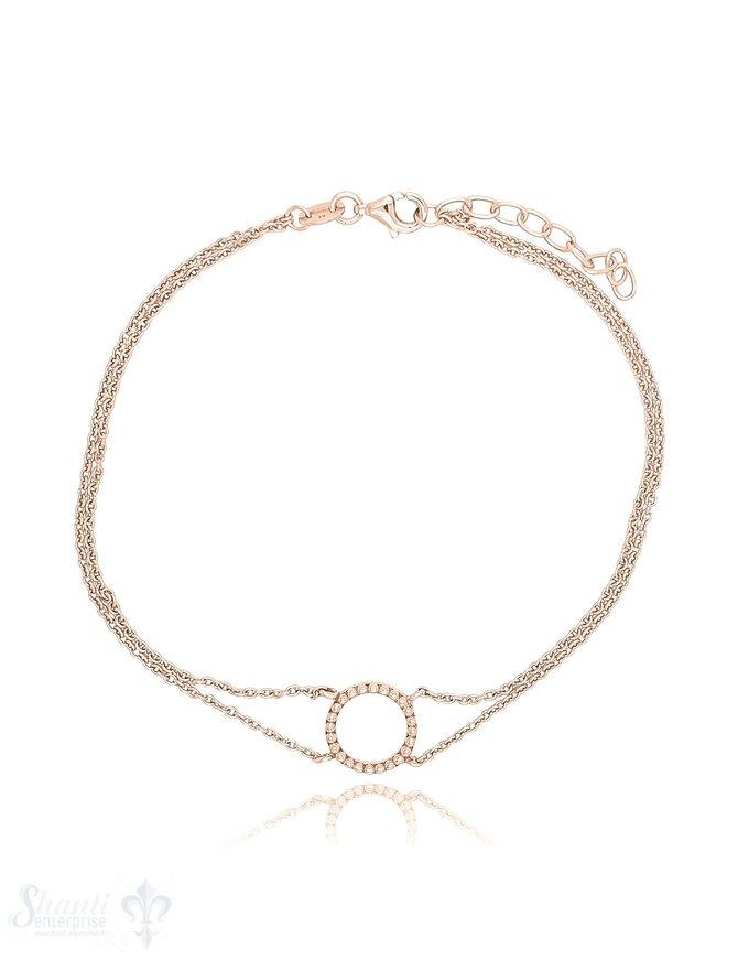 Fussketteli Silber hell 2-reihig 23-26 cm mit Kreis Grössen verstellbar