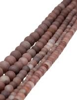 Chocolate-Achat Strang braun matt Buttons 6 mm (6,2-6,5 mm)
