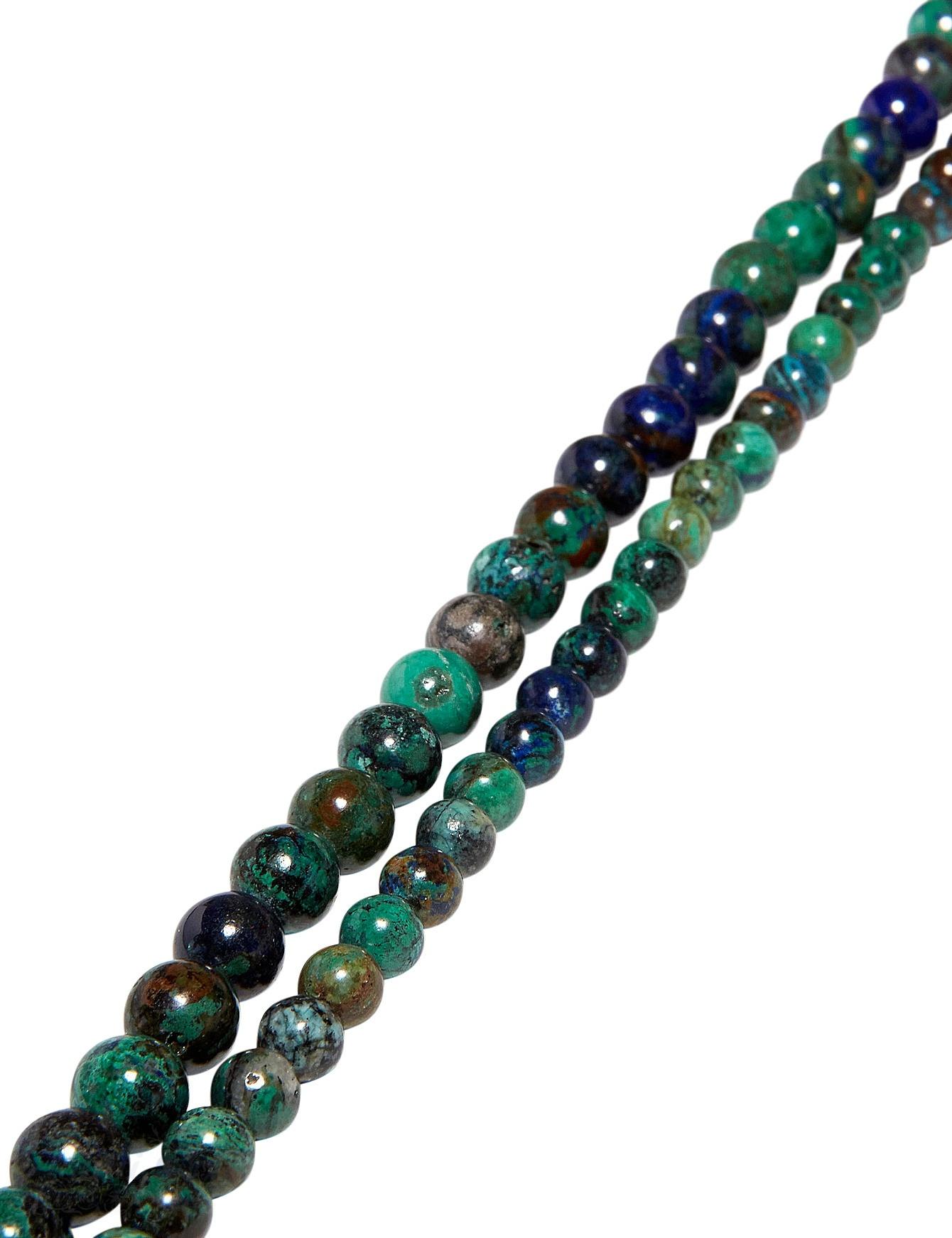 Azurit-Malachit Strang grün-blau poliert Kugeln AA