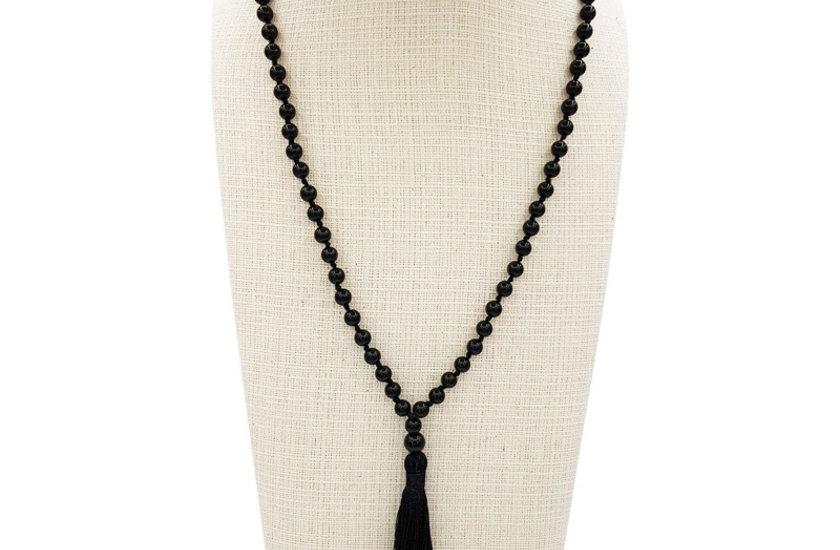 Halsketten mit Edelsteine / Zirkonia / Holz