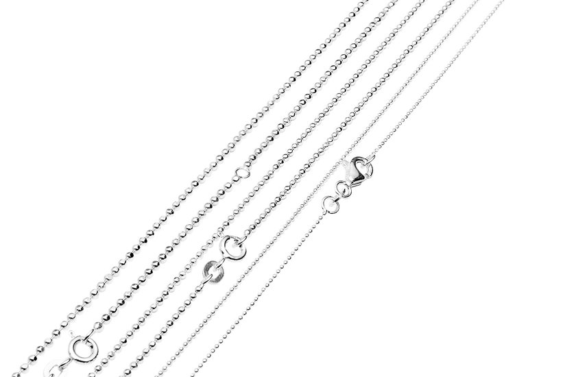 Silberketten mit Schloss