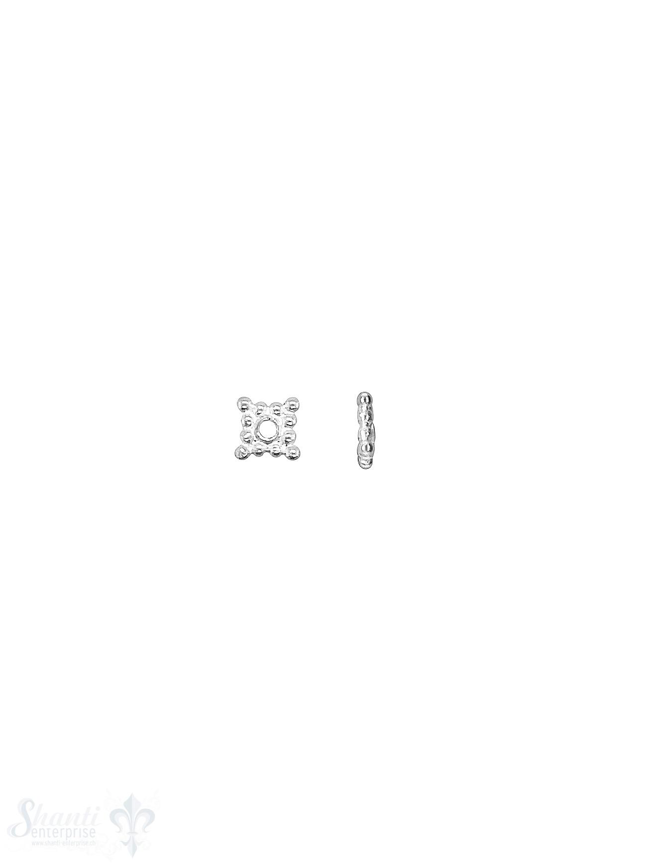 Stern Element 6x6 mm 4-ZackenSilber getupft hell