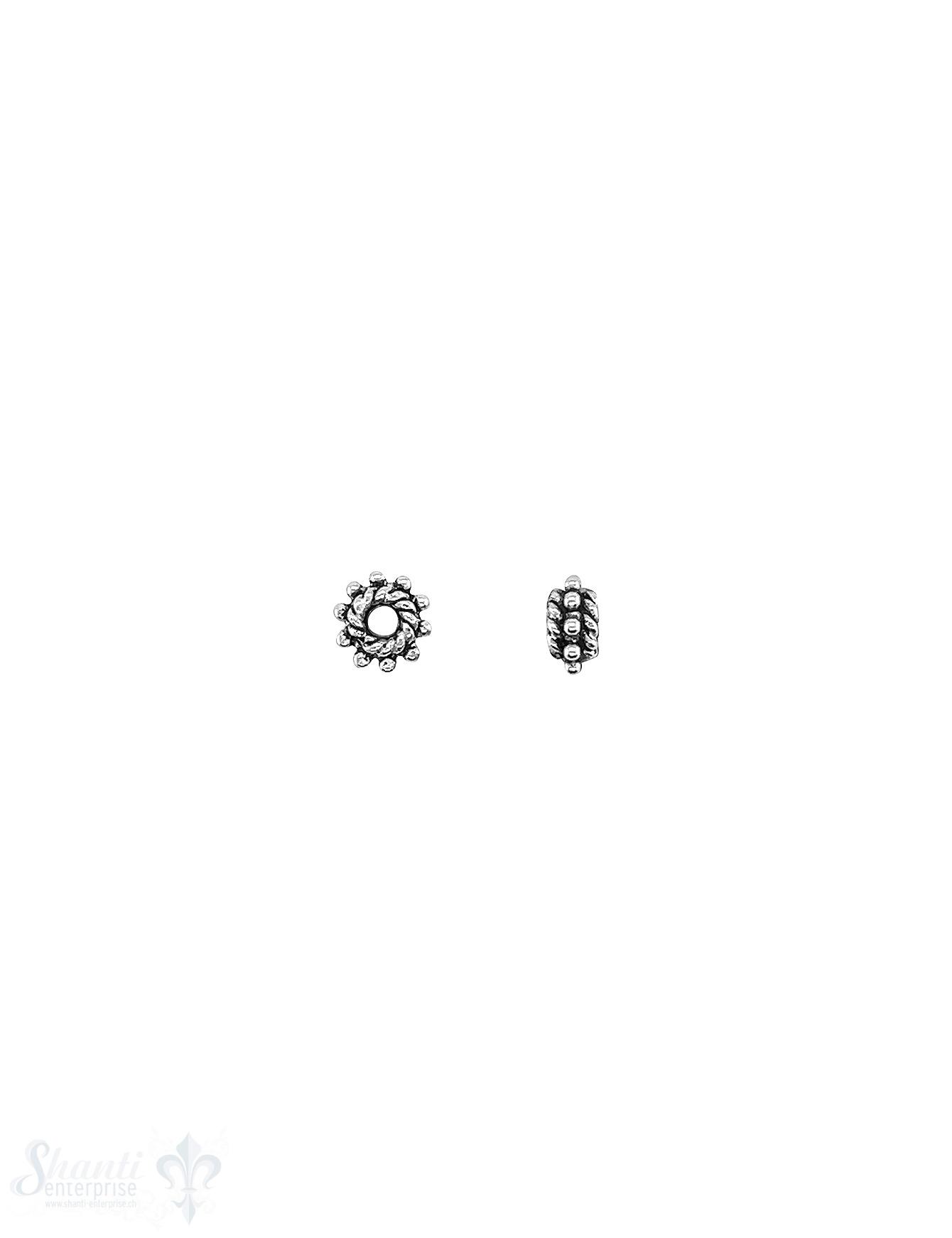 Rondellen Element 6x3 mm gepunktet am Rand