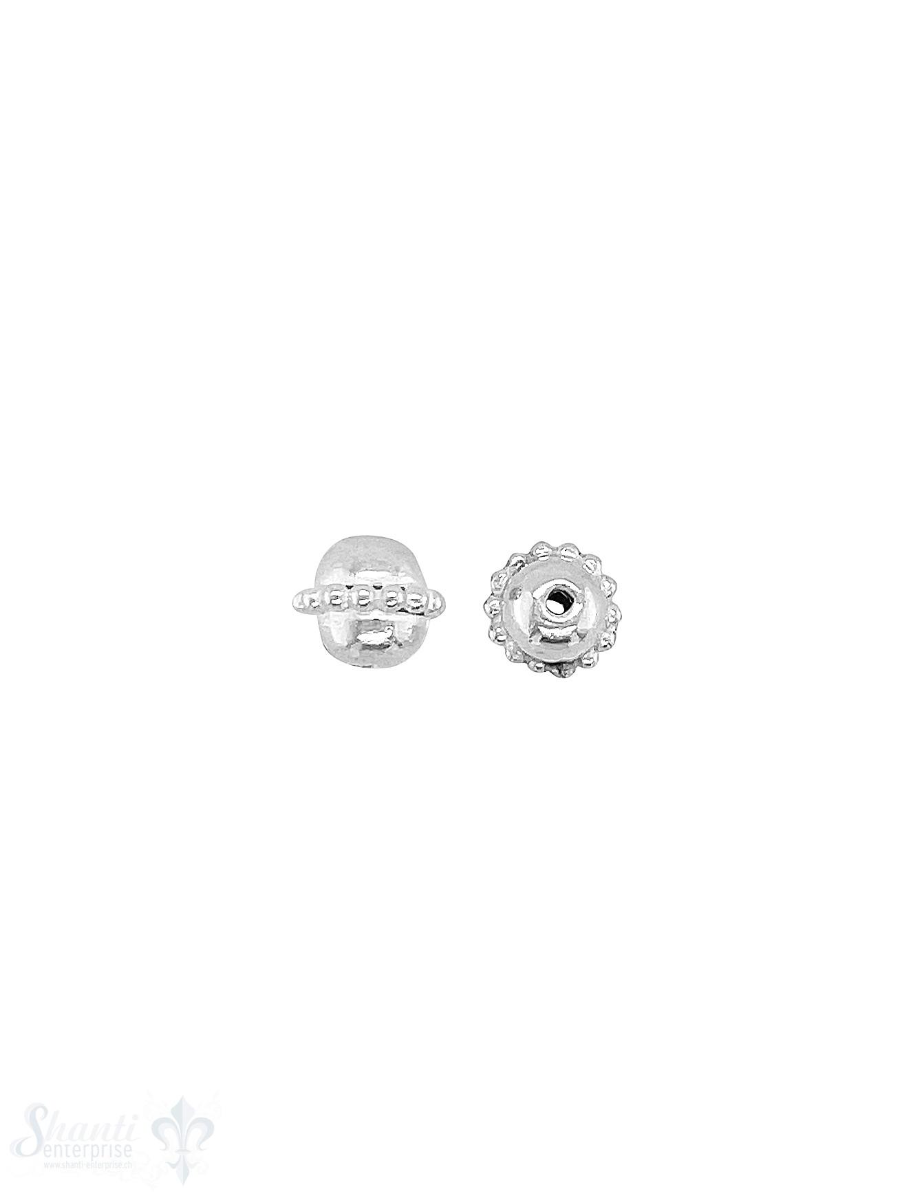 Kugel Element 6x5 mm Silber hell Kugelreihe 1 mm