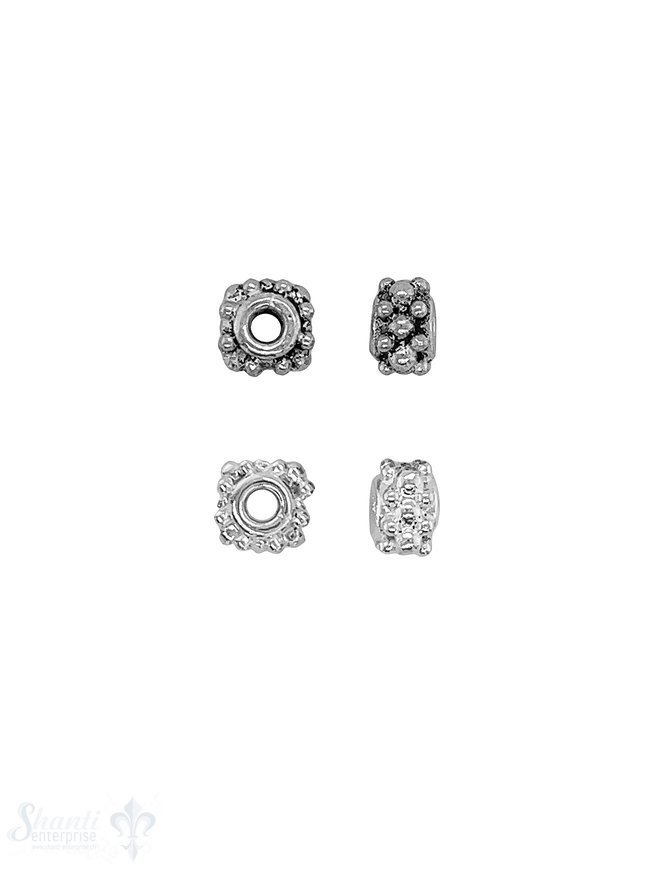 Blumen Element  3-reihig versetzt getupft Silber
