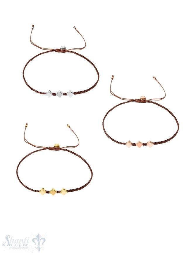 BW-Armketteli fein mit 3 Silberblumen