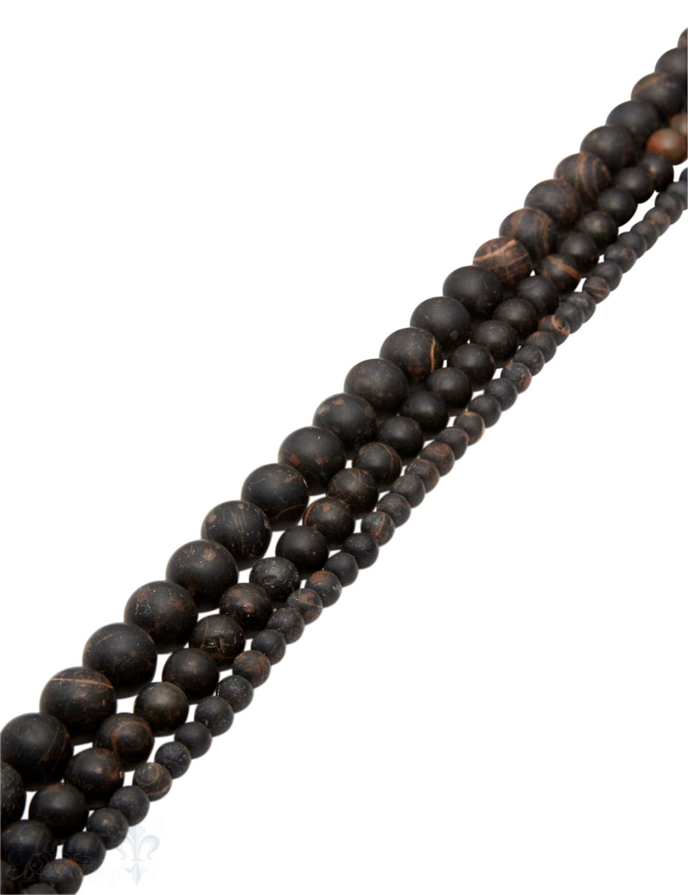 Obsidian Strang braun matt Kugeln AAA rund