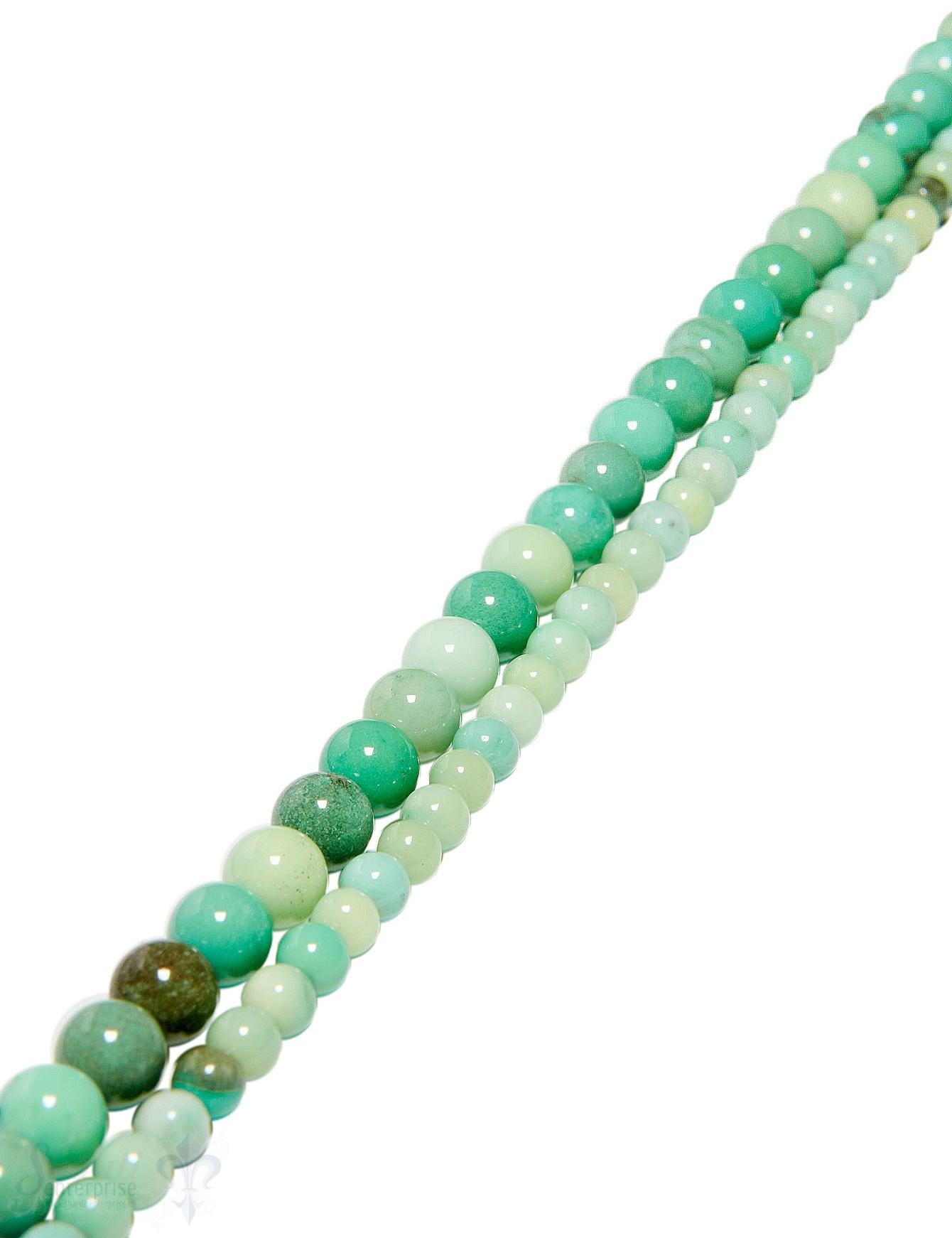 Jade Strang jadegrün gefärbt poliert Kugeln