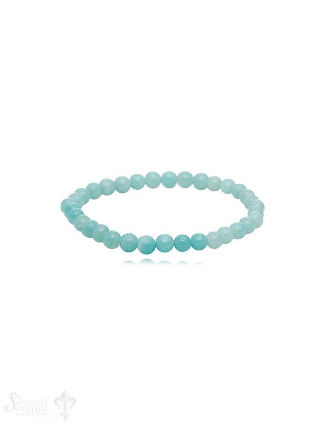 Armband 4 mm poliert für Kinder 14 mm auf Elastikk