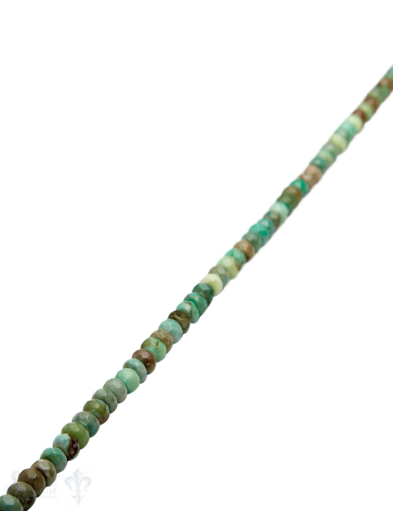 Jade Strang apfelgrün gefärbt facettiert Buttons