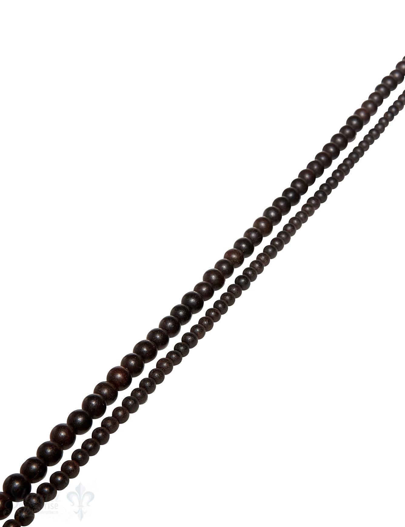 Adlerholz Strang dunkelbraun poliert