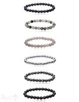 Edelstein Armband 8 mm facettiert rund auf Elastik 18 cm