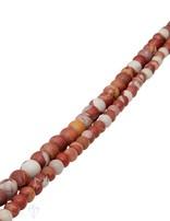 Australischer Jaspis Strang braun-rot matt Kugeln