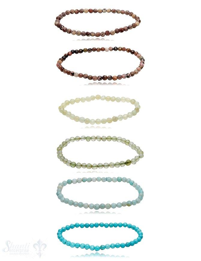4mm Edelstein Armbänder 4 mm facettiert