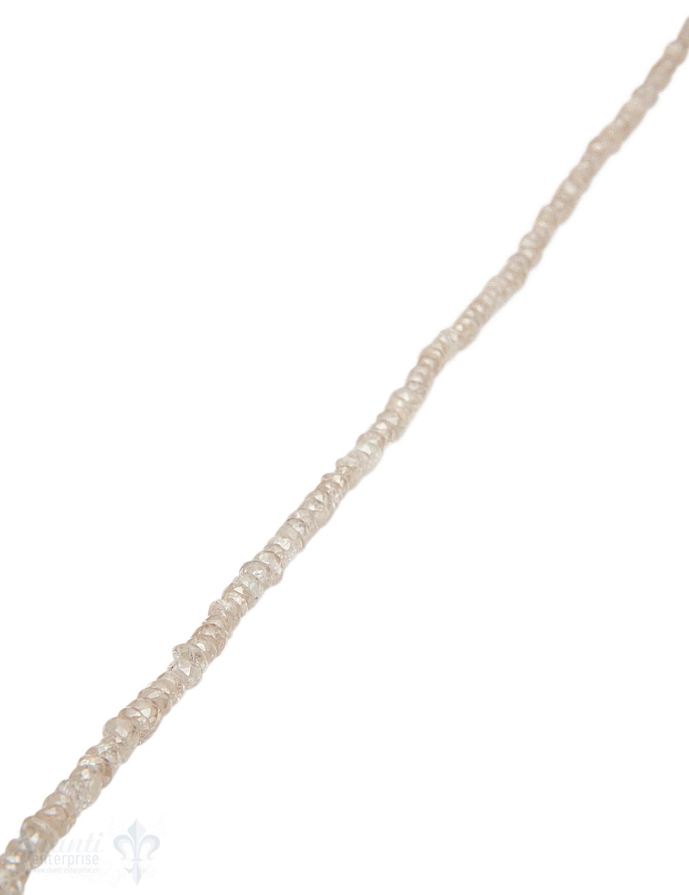 Zirkon Strang champagner facettiert buttons 34 cm lang AAA  echter Stein
