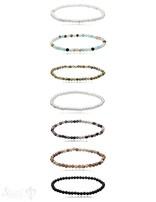 Armband matt rund auf Elastik 18 cm
