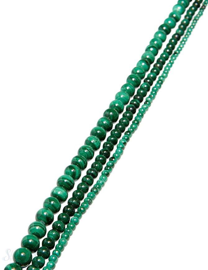 Malachit Strang grün poliert Kugeln AA