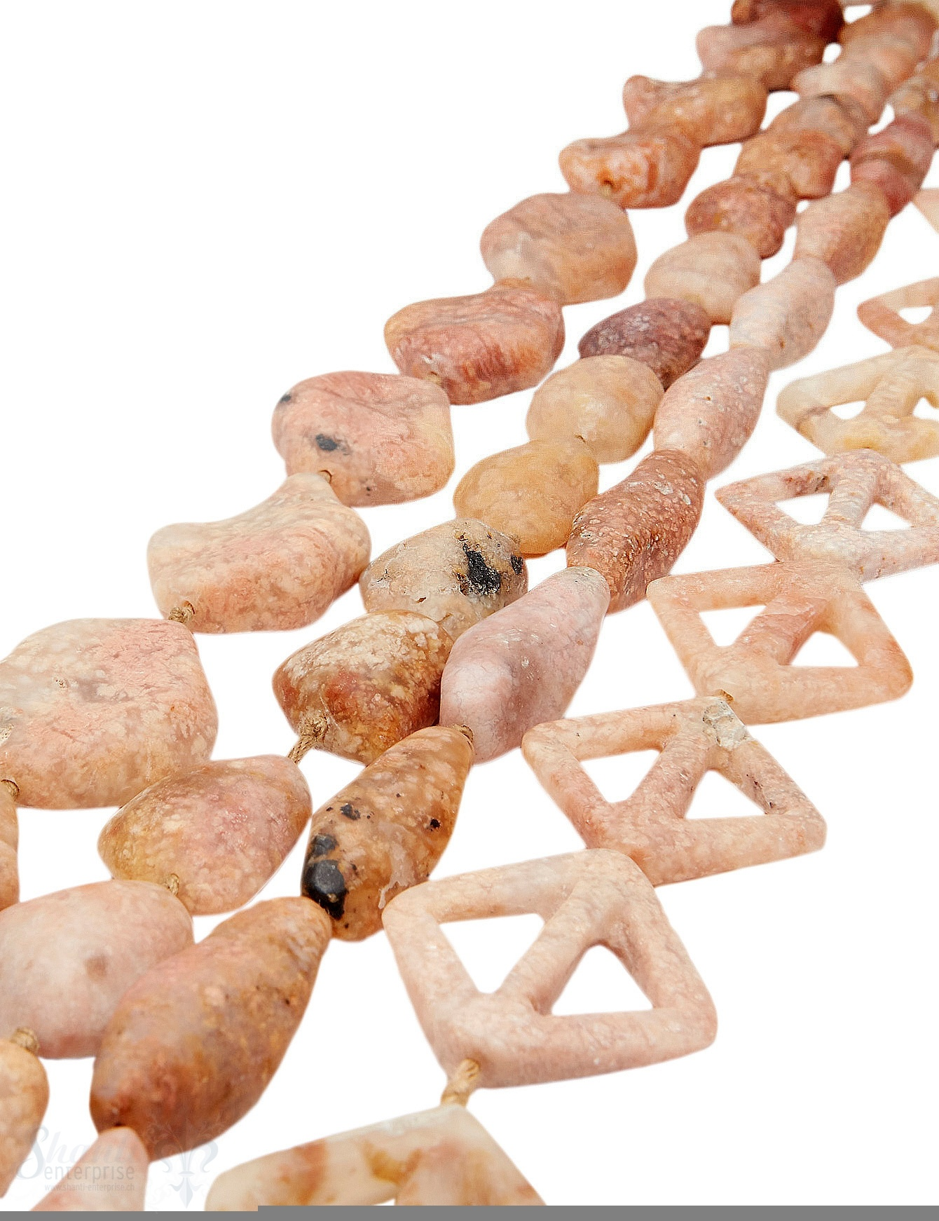 Moosachat Strang rosa matt diverse Formen