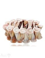 Muschelschnecke bunt Armband auf Elastik 18 cm